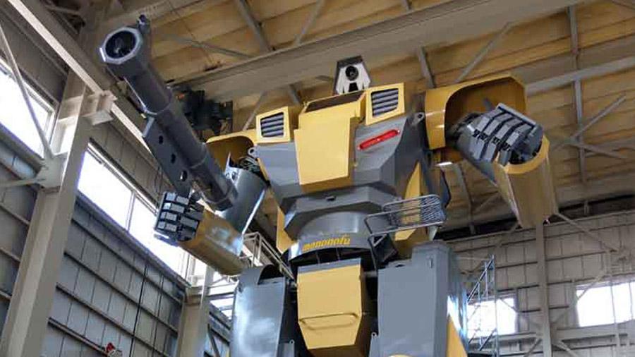 Mononofu, el enorme y singular robot japonés de nueve metros de altura