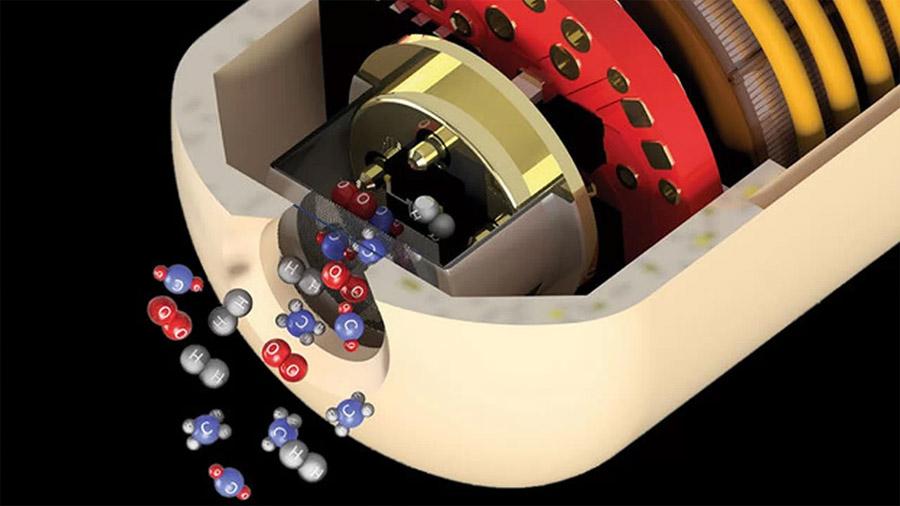 Una cápsula viaja por el intestino para analizar sus gases