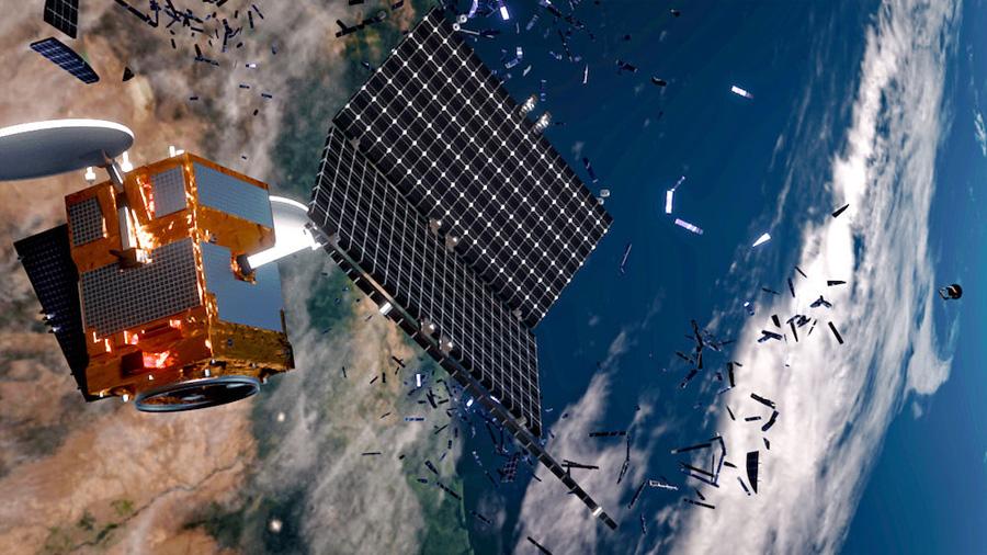 ¿Cómo quieren los científicos destruir toda la basura espacial que flota sobre nuestras cabezas?