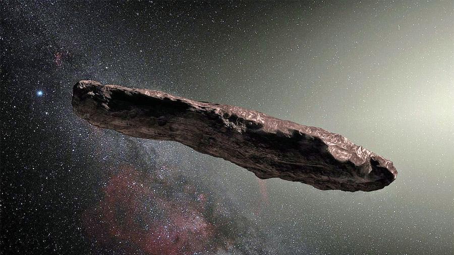 """Cómo es Oumuamua, el """"violento asteroide cigarro"""" al que le espera un caótico futuro"""