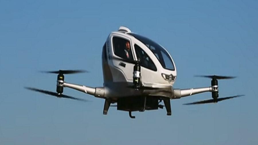 Prueban en China dron para transporte de pasajeros [VIDEO]