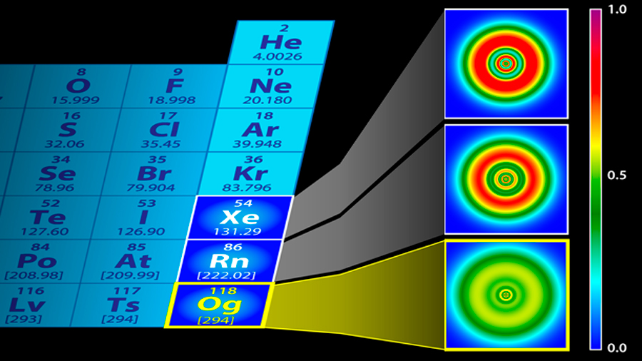 El elemento más pesado tiene una estructura externa inusual