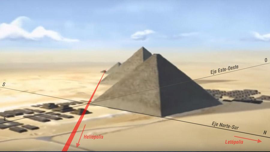 Descubierto el secreto del perfecto alineamiento de la gran pirámide de Keops