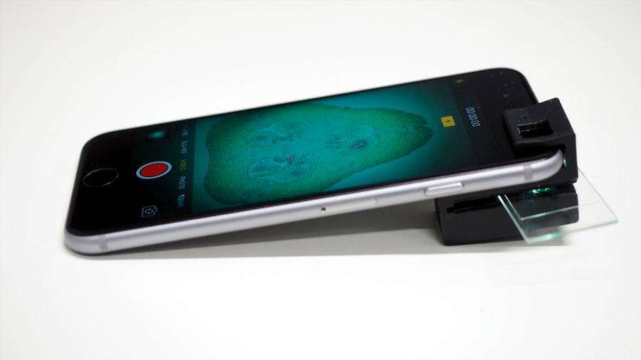 Llega el microscopio para teléfono móvil plenamente funcional