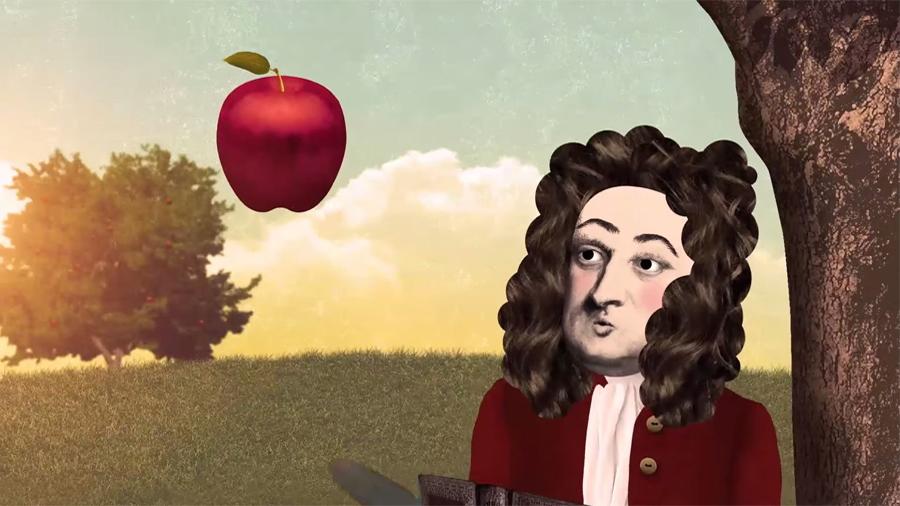 La manzana que nunca le cayó a Newton en la cabeza