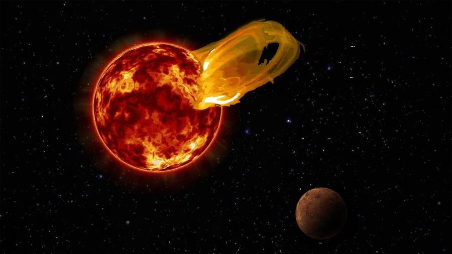 Próxima b, probablemente arrasado por una erupción en su estrella