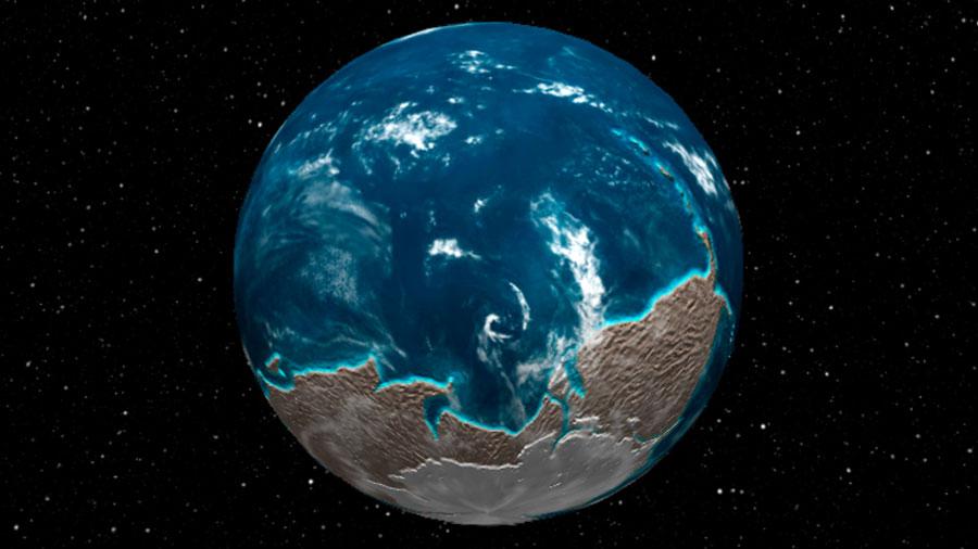Globo terráqueo interactivo te muestra cómo cambió la Tierra en los últimos 600 millones de años