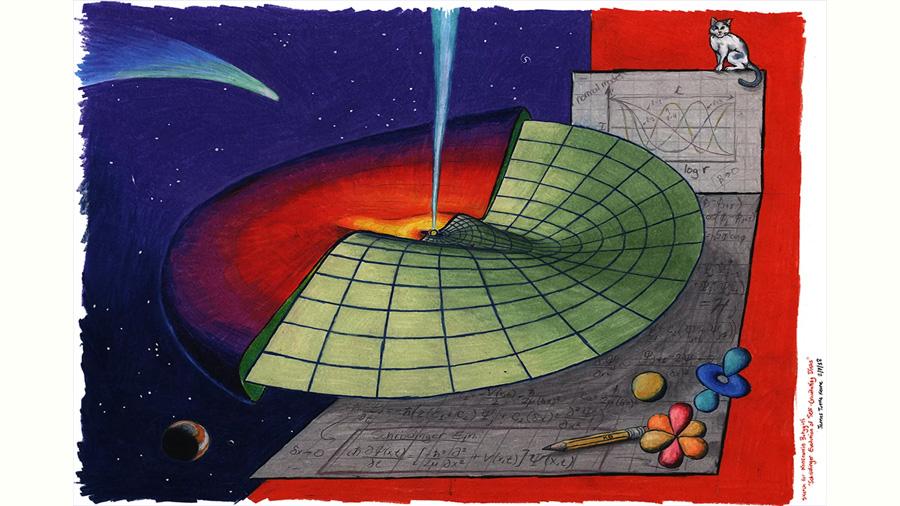 La ecuación de Schrödinger, fundamento de la mecánica cuántica, rige también a escala cósmica