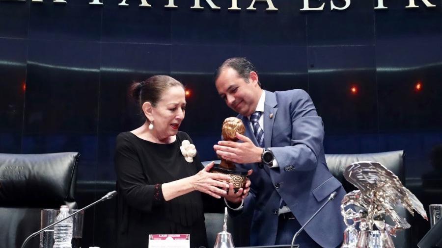 Senado de la República reconoce labor a favor de las mujeres de María Elena Chapa Hernández