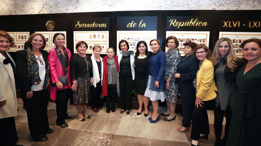 Inauguran Sala de Senadoras de la República en la Casona de Xicoténcatl