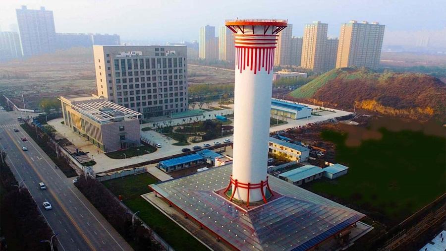 China prueba un purificador gigante (60 metros) para descontaminar el aire urbano