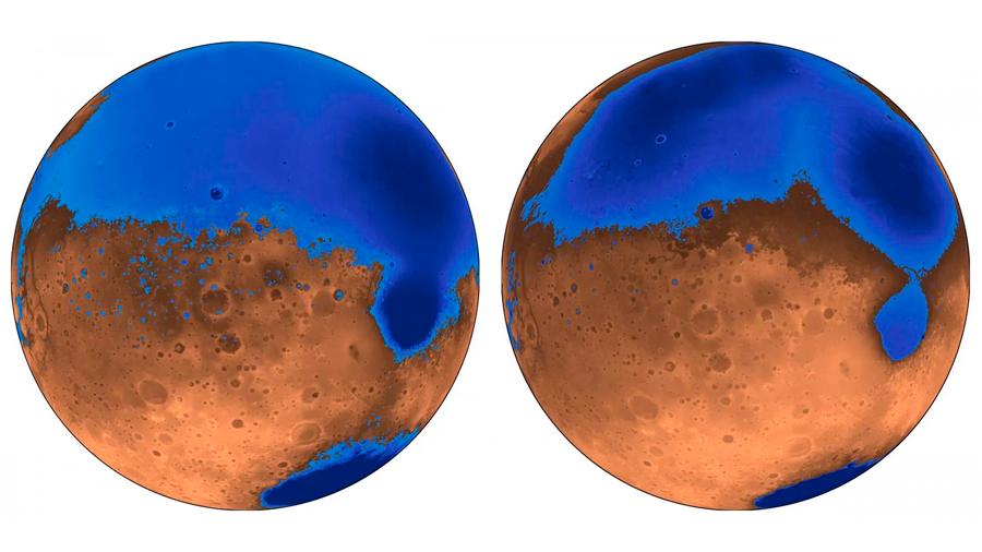 El enorme reino de los volcanes creó océanos en Marte hace 4,000 años