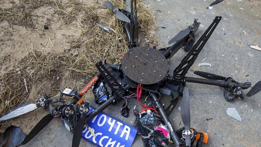 Dron postal ruso se estrella contra una pared durante su primera prueba
