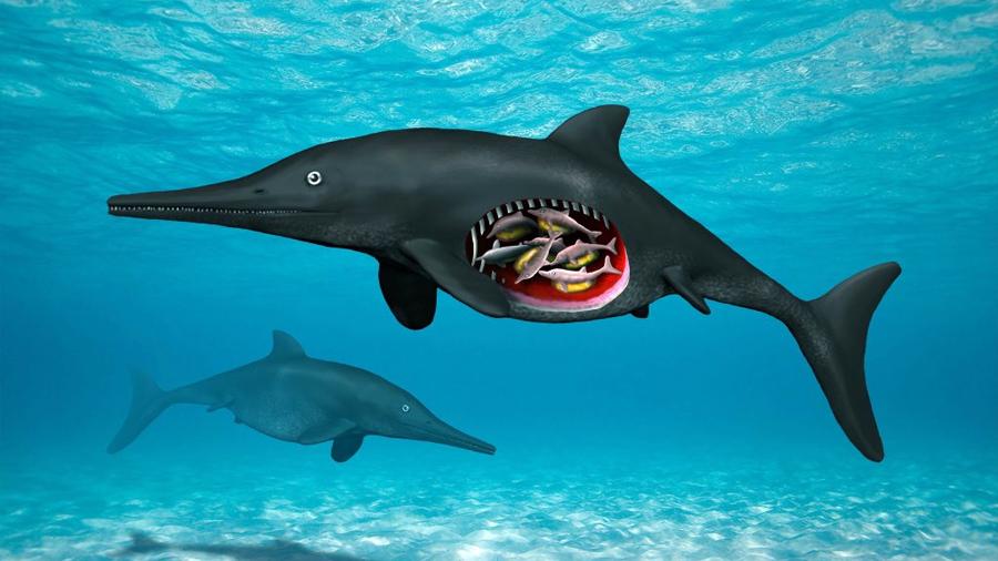 Hallan restos de una reptil prehistórica embarazada con octillizos