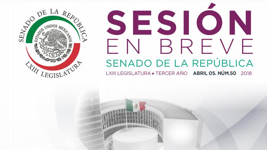 Sesión en breve, Abril 5, 2018