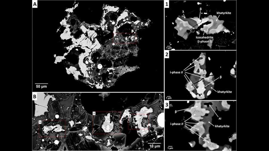 Investigadores descubren tres minerales totalmente desconocidos en un meteorito