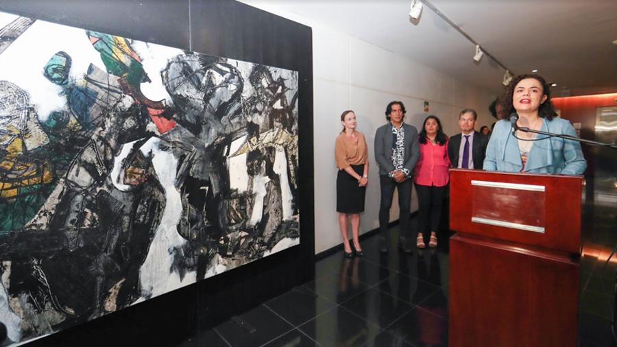 Senado inaugura exposición pictórica de artistas mexicanos y cubanos