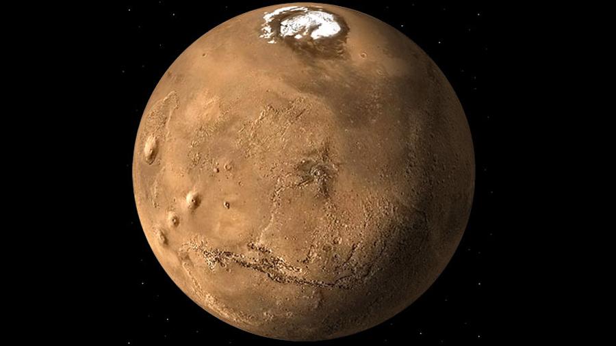 Así es el agua de Marte: hallan columnas de hielo de más de 100 metros bajo la superficie del planeta rojo
