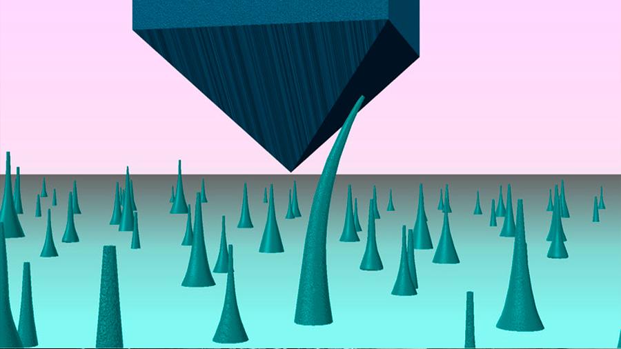 Los diamantes se pueden doblar en el nanomundo