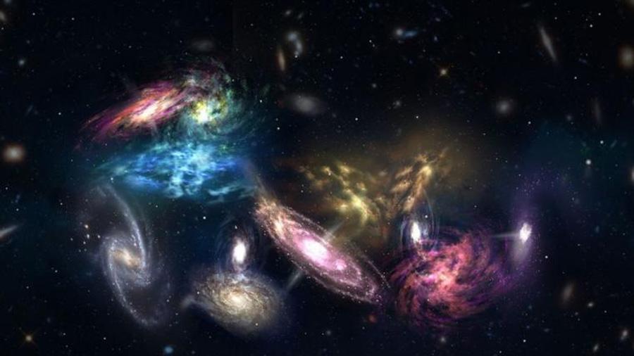 Descubren increíbles megafusiones de galaxias del amanecer del universo