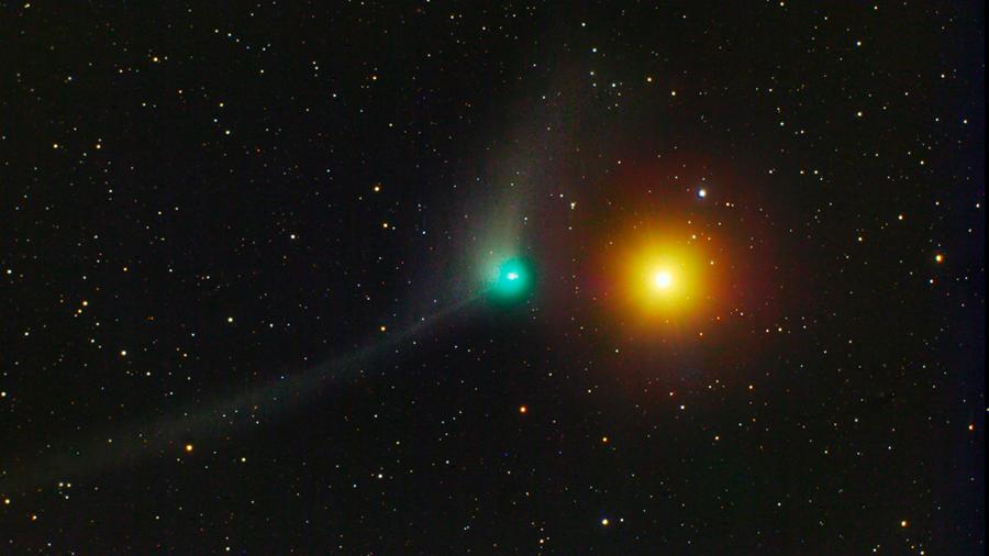 Reencontrado el cometa Catalina con el telescopio Schmidt