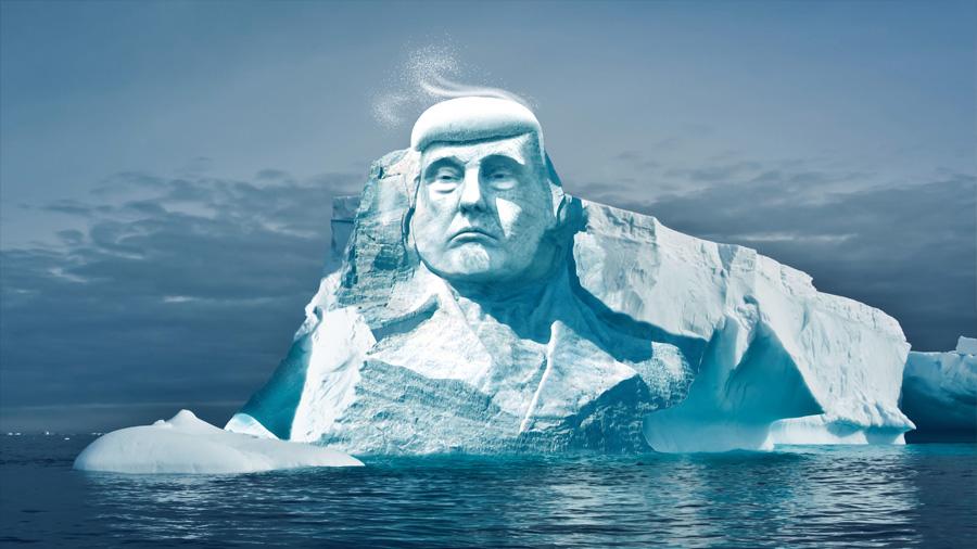 Un grupo ecologista pretende esculpir la efigie de Trump en el hielo del Ártico