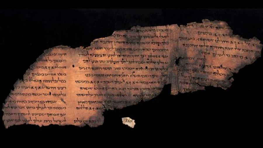 Identifican posible manuscrito del mar Muerto con tecnología de la NASA