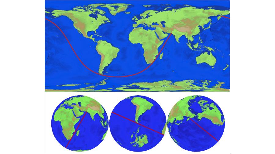 Un algoritmo encuentra la línea recta más larga navegable sin tocar tierra