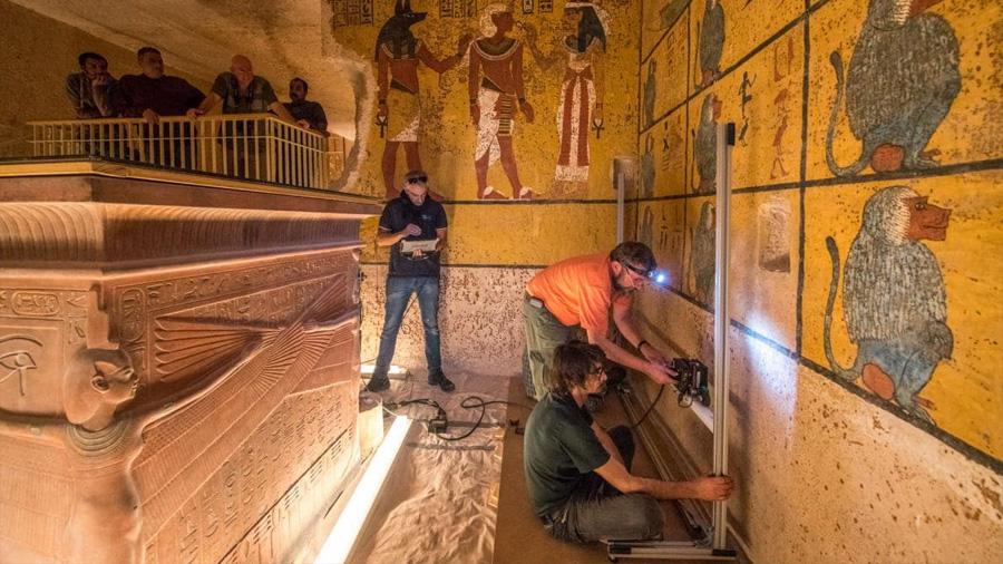 Resuelven científicos misterio de la tumba de Tutankamón: no tiene cámaras secretas