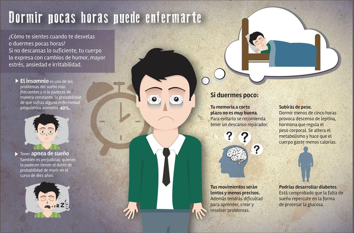 Dormir pocas horas puede enfermarte