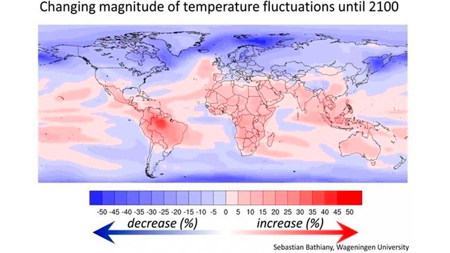 La variación climática se encarnizará sobre todo con los países más pobres