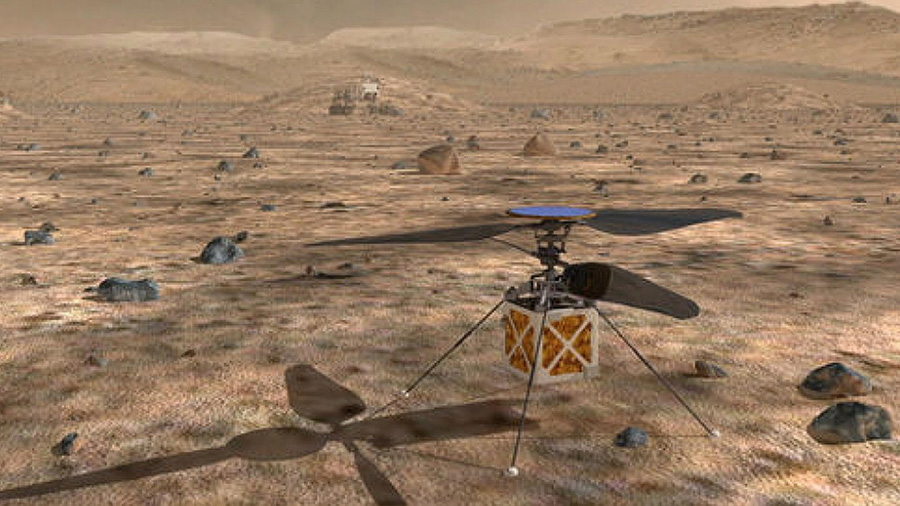 Helicóptero de la NASA va rumbo a Marte
