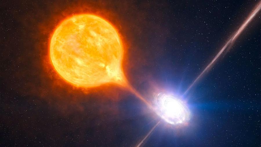 Hallan un monstruoso agujero negro que devora un sol cada dos días