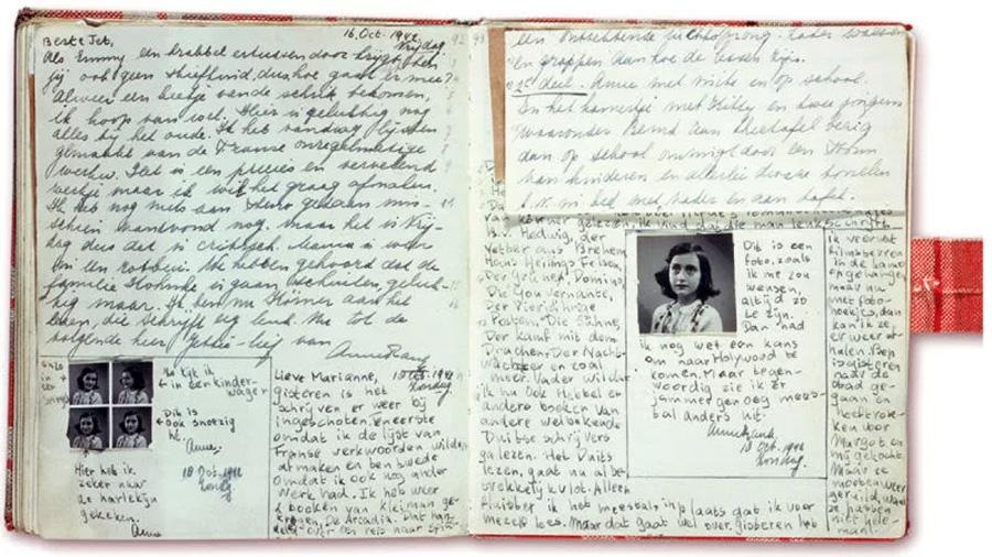 Descubren el contenido de 2 nuevas páginas del diario de Ana Frank que ella misma escondió para que no fueran leídas