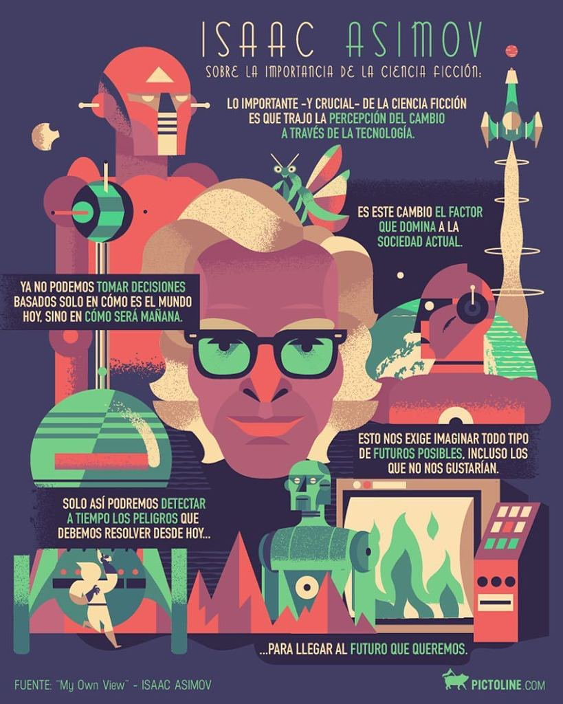 Sobre la importancia de la ciencia ficción: Isaac Asimov