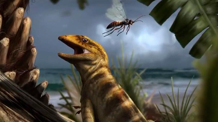 Identifican al lagarto más antiguo del mundo, padre de todas las lagartijas y serpientes