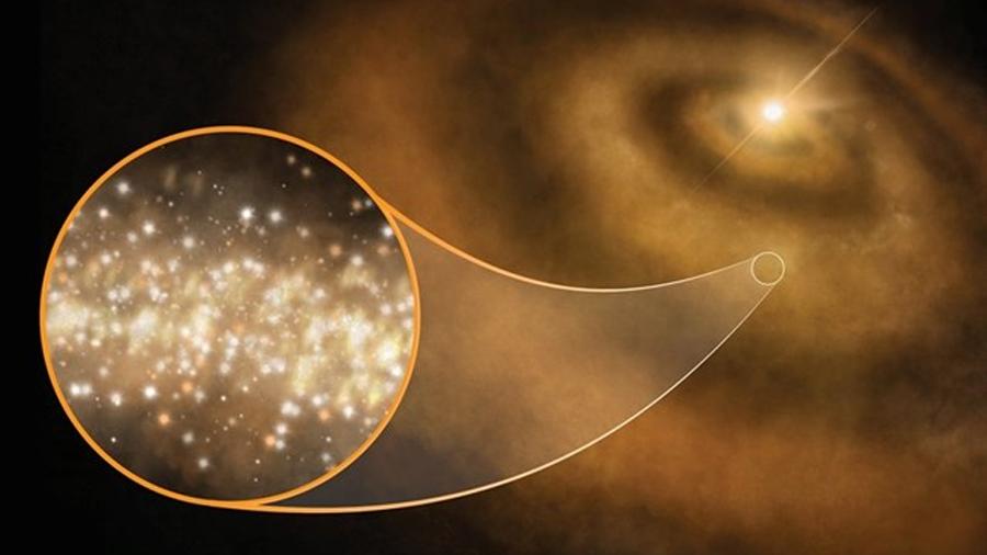 Polvo de diamante produce una extraña luz de microondas en el cosmos
