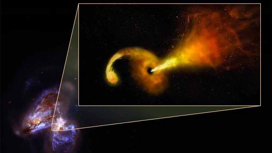 Un agujero negro desgarra una estrella y los astrónomos captan la erupción