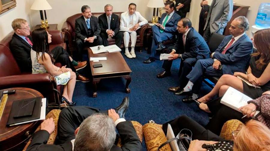 Reuniones de senadores y diputados con congresistas de Estados Unidos