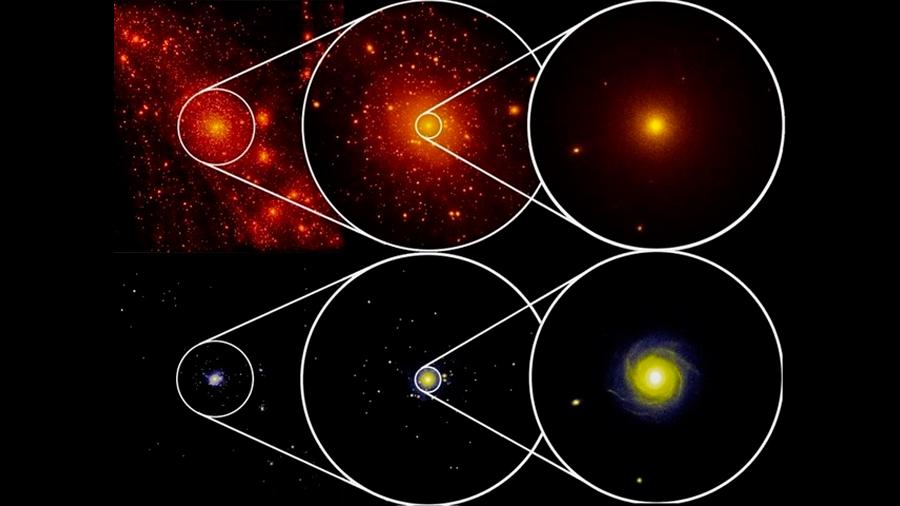 Aplican un test galáctico para probar la materia oscura o deponer a Newton