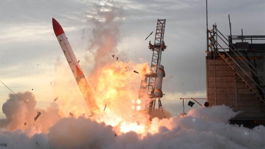 Un cohete japonés explota a segundos de haber sido lanzado
