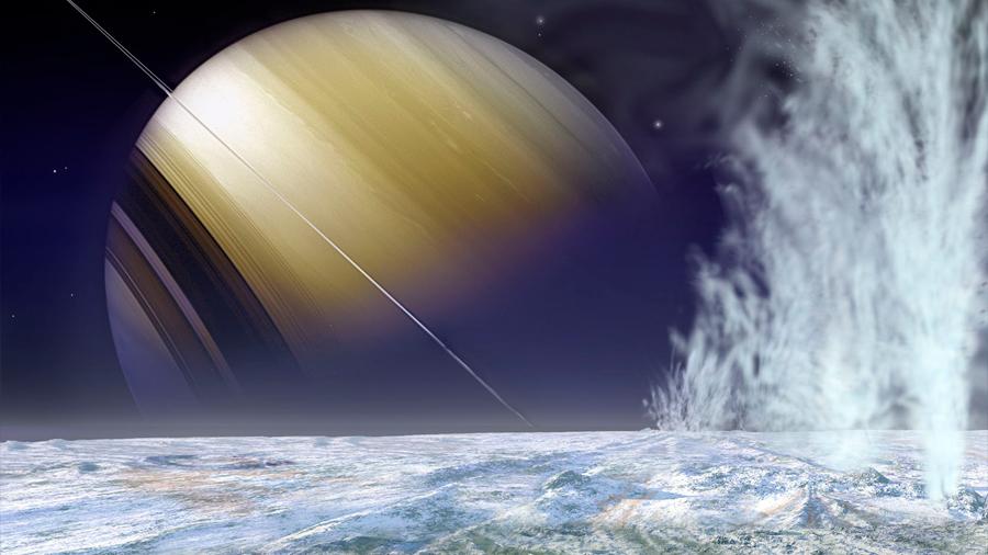 Detectan sustancias orgánicas complejas en Encélado, una luna de Saturno