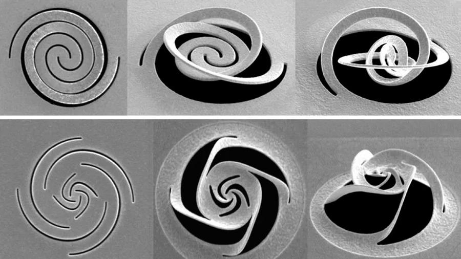 Manipulan luz a escala nanométrica con una técnica basada en el arte de recortar papel