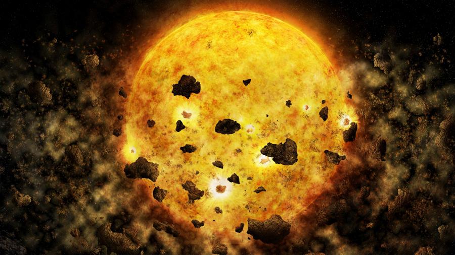 """Observan, por primera vez, a una estrella """"devorando"""" planetas"""