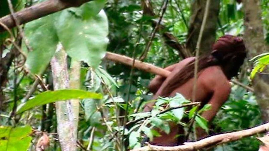 Publican imágenes del indígena del hoyo, el hombre más solitario del mundo