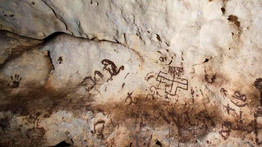 Descubren una cueva con un gran tesoro de pinturas rupestres en México