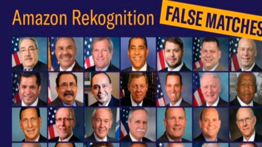 La tecnología de Amazon confundió a 28 congresistas con delincuentes