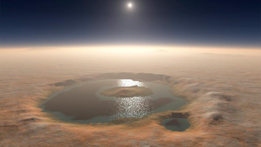 El lago de Marte