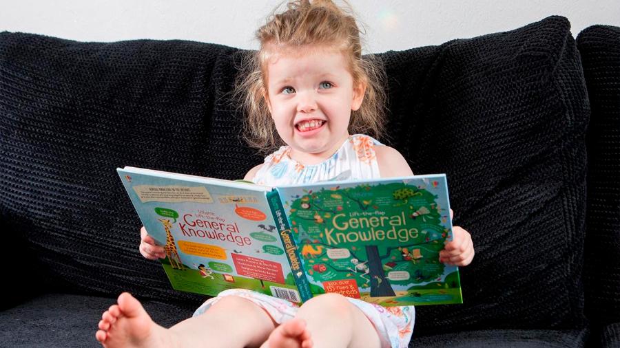 Ophelia Morgan-Dew tiene apenas 3 años, pero con un coeficiente intelectual de 171