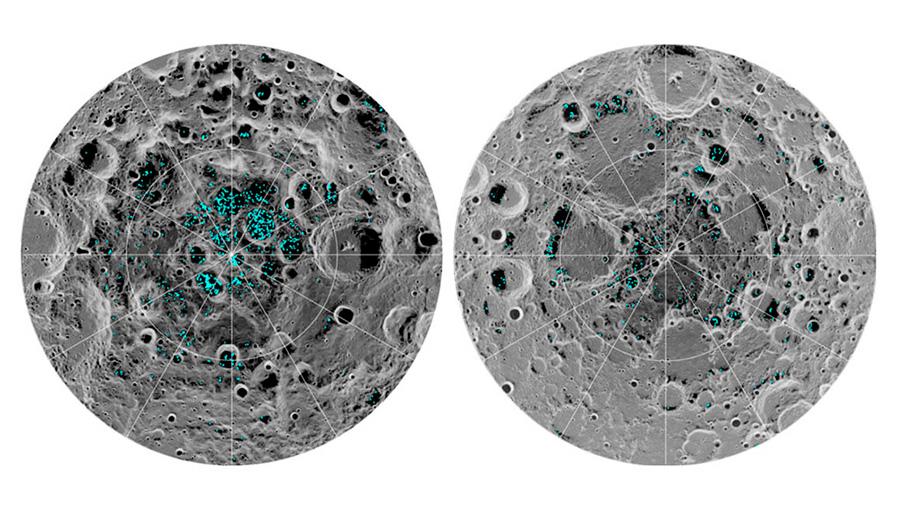 Confirman definitivamente la presencia de hielo en la superficie lunar
